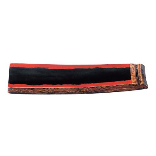 盛器 樽盛器4号(小)黒/朱 [40.5 x 11 x 3cm] 木製品 (7-716-6) 【料亭 旅館 和食器 飲食店 業務用】