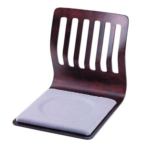 座椅子 格子和座椅子 ブラウン [W40 x D49 x H43.5cm] 木製品 (7-779-5) 【料亭 旅館 和食器 飲食店 業務用】