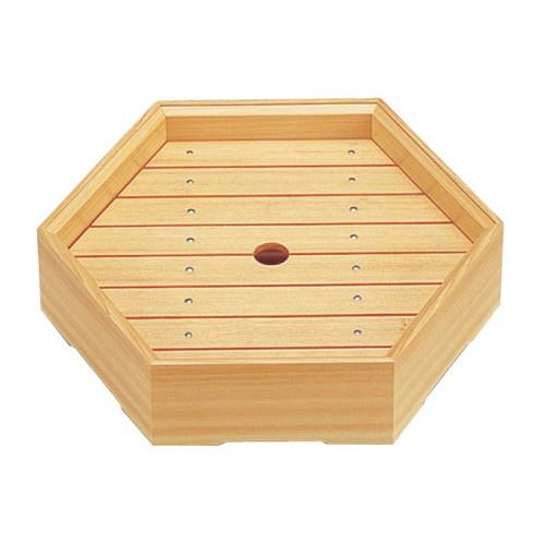 盛器 (特大)白木六角盛器(目皿付) [36.5 x 31.6 x 6.1cm] 木製品 (7-718-11) 【料亭 旅館 和食器 飲食店 業務用】
