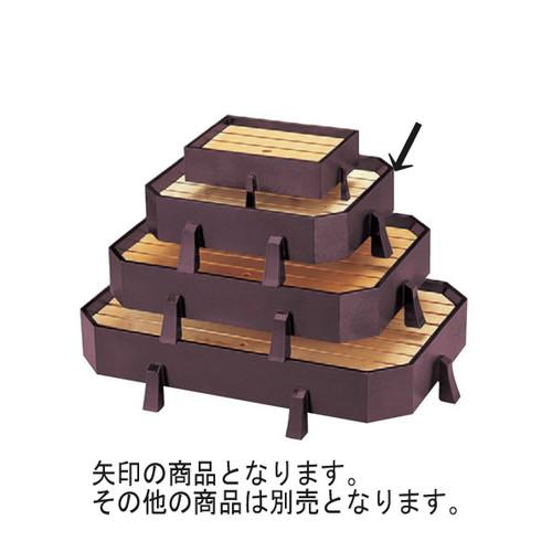 盛器 (小)松島盛器(四ツ足)溜千筋 [42.7 x 36.9 x 10.8cm] 木製品 (7-718-23) 【料亭 旅館 和食器 飲食店 業務用】