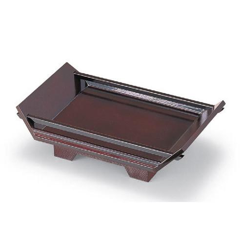 盛器 (中)舟型盛込器溜 [56.8 x 34.8 x 14cm] 木製品 (7-719-9) 【料亭 旅館 和食器 飲食店 業務用】