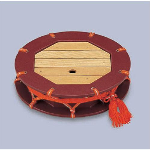 盛器 尺2寸つづみ盛込器茶乾漆 [35.6φ x 7.5cm] 木製品 (7-719-4) 【料亭 旅館 和食器 飲食店 業務用】