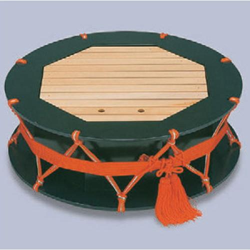 盛器 2尺つづみ盛込器グリーン乾漆 [60φ x 21cm] 木製品 (7-719-6) 【料亭 旅館 和食器 飲食店 業務用】