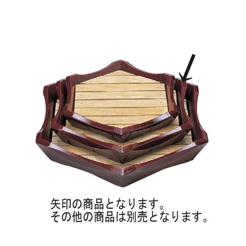 盛器 亀甲盛込器溜(中) [44.2 x 38.6 x 7cm] 木製品 (7-719-21) 【料亭 旅館 和食器 飲食店 業務用】