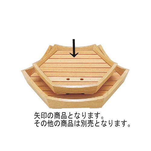 盛器 六角盛器白木(大) [38 x 38 x 6.6cm] 木製品 (7-719-19) 【料亭 旅館 和食器 飲食店 業務用】