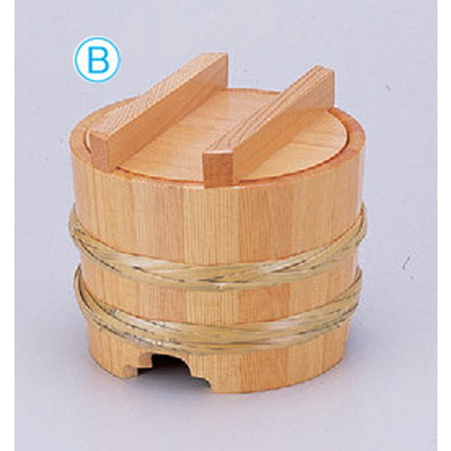 盛器 釜揚げ竹輪(大) [21φ x 18.5cm] 木製品 (7-719-18) 【料亭 旅館 和食器 飲食店 業務用】