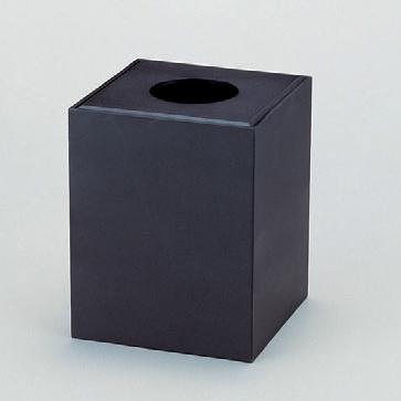 客室用品 くず入れ黒乾漆 [19.1 x 19.1 x 24.2cm] 木製品 (7-905-3) 【料亭 旅館 和食器 飲食店 業務用】