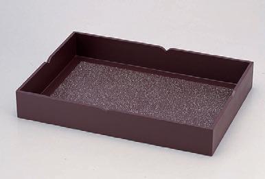 客室用品 衣裳盆茶乾漆吹雪 [60 x 42.1 x 8.9cm] 木製品 (7-911-4) 【料亭 旅館 和食器 飲食店 業務用】