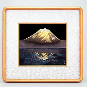 パネル 色紙銀額(隅丸)銀富士山 [44.5 x 42cm] (7-914-26) 【料亭 旅館 和食器 飲食店 業務用】