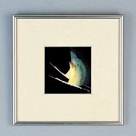 パネル 銀額(小)鶴 [30.5 x 30.5cm] (7-914-30) 【料亭 旅館 和食器 飲食店 業務用】