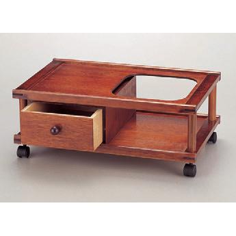 灰皿 ホームワゴンケヤキ [50.5 x 32.5 x 20.5cm] 木製品 (7-908-38) 【料亭 旅館 和食器 飲食店 業務用】