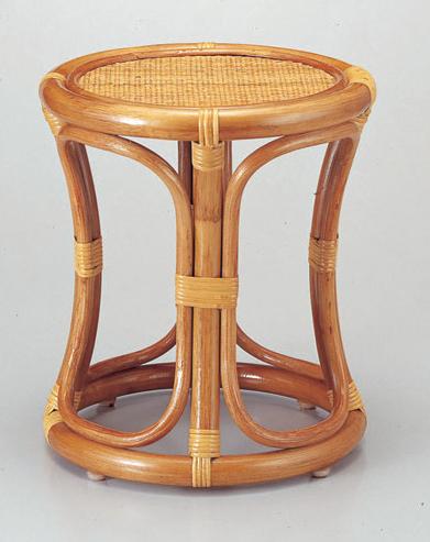 風呂用品 丸椅子 [32φ x 36cm] 籐 (7-916-15) 【料亭 旅館 和食器 飲食店 業務用】