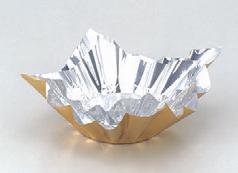 紙鍋・炭 アルミすき鍋ゴールド/内銀(小)200枚入 [18 x 18cm] (7-920-15) 【料亭 旅館 和食器 飲食店 業務用】