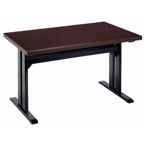 テーブル メラミン 茶乾漆(板型高足固定) [120 x 75 x 70cm] (7-763-5) 【料亭 旅館 和食器 飲食店 業務用】