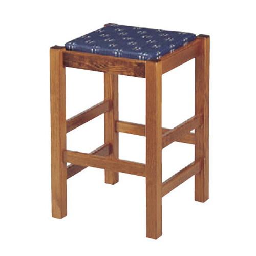 椅子 ケヤキ塗(高)(座)紺かすりレザー [40 x 40 x H59cm] 木製品 (7-776-17) 【料亭 旅館 和食器 飲食店 業務用】