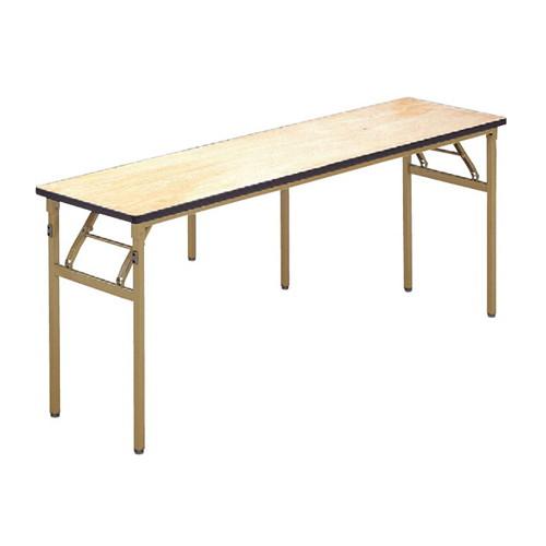 テーブル 白木テーブル(ソフトエッジ)180×45 [180 x 45 x 70cm] 木製品 (7-767-8) 【料亭 旅館 和食器 飲食店 業務用】