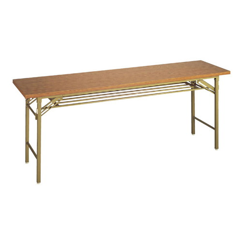 テーブル 会議用テーブル メラミンチーク(共ブチ) [150 x 45 x 70cm] (7-767-3) 【料亭 旅館 和食器 飲食店 業務用】