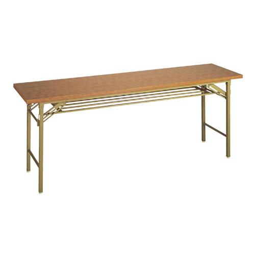 テーブル 会議用テーブル メラミンチーク(共ブチ) [120 x 45 x 70cm] (7-767-3) 【料亭 旅館 和食器 飲食店 業務用】