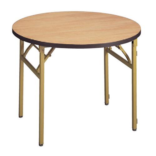 テーブル 白木テーブル丸(ソフトエッジ)120φ [120φ x 70cm] 木製品 (7-767-6) 【料亭 旅館 和食器 飲食店 業務用】