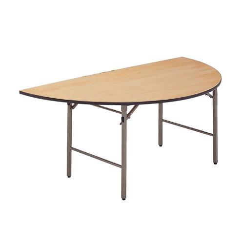 テーブル 白木テーブル半月(ソフトエッジ)180φ1/2 [180φ1 / 2 x 70cm] 木製品 (7-767-7) 【料亭 旅館 和食器 飲食店 業務用】