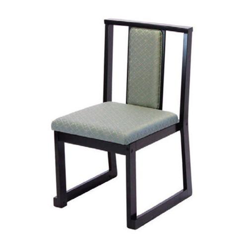 椅子 加賀高テーブル椅子 グリーン(布) [44.5 x 50 x H79 x SH43cm] 木製品 (7-771-2) 【料亭 旅館 和食器 飲食店 業務用】