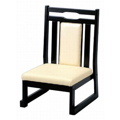 テーブル 新優高椅子 27H(縦張り) レザー・クリーム [44.5 x 48 x H71 x SH27cm] 木製品 (7-758-5) 【料亭 旅館 和食器 飲食店 業務用】
