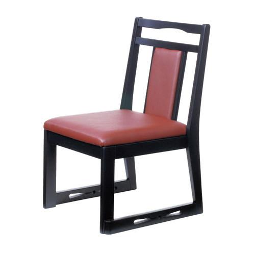 椅子 あすか高椅子開花ビニールレザー茶 [43 x 49 x H72 x SH35cm] 木製品 (7-769-11) 【料亭 旅館 和食器 飲食店 業務用】