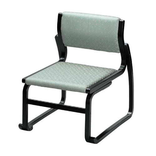 椅子 越前高椅子 グリーン(布) [50 x 58 x H65 x SH35cm] 木製品 (7-769-8) 【料亭 旅館 和食器 飲食店 業務用】