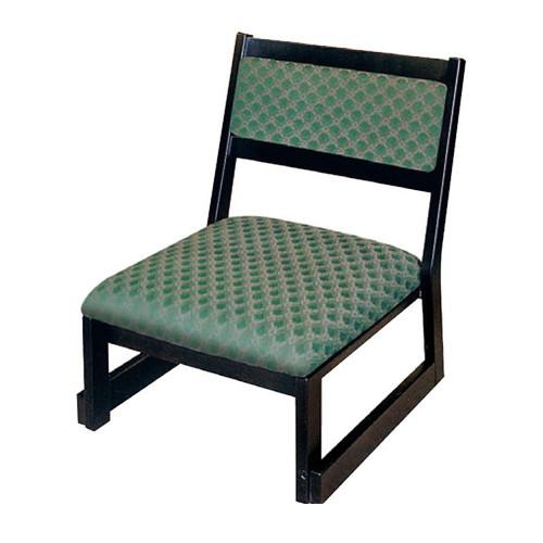 椅子 低型高椅子 27H 喜楽 サペリ色 [44 x 50 x H58.5 x SH27cm] 木製品 (7-770-9) 【料亭 旅館 和食器 飲食店 業務用】