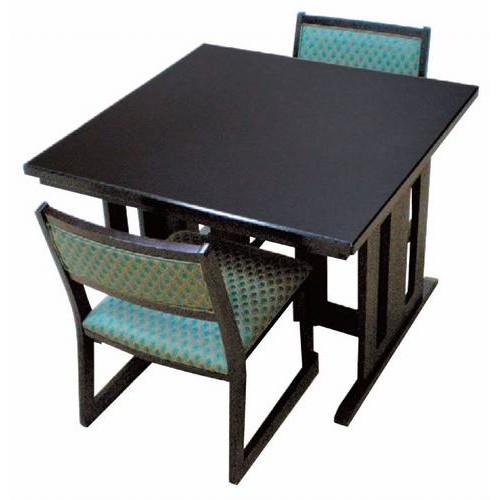 テーブル 皇帝 ジュニア 乾漆調黒メラミン [90 x 90 x H62cm] 木製品 (7-753-7) 【料亭 旅館 和食器 飲食店 業務用】