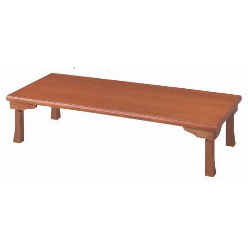 テーブル 座卓(折脚)(ハニカム構造4cm厚突板貼り) [150 x 60 x H34.5cm] 木製品 (7-759-6) 【料亭 旅館 和食器 飲食店 業務用】