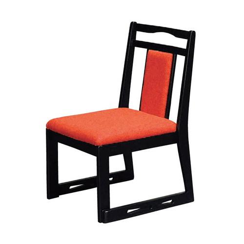 椅子 あすか高椅子開花朱べに花(布) [43 x 49 x H72 x SH35cm] 木製品 (7-769-10) 【料亭 旅館 和食器 飲食店 業務用】