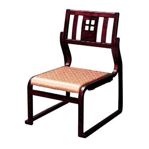 椅子 幸楽高椅子ワインカラー、ベージュ(布) [51 x 57 x H78 x SH36cm] 木製品 (7-770-4) 【料亭 旅館 和食器 飲食店 業務用】