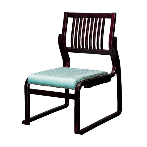 椅子 格子高椅子グリーン(布) [51 x 57 x H78 x SH36cm] 木製品 (7-770-5) 【料亭 旅館 和食器 飲食店 業務用】