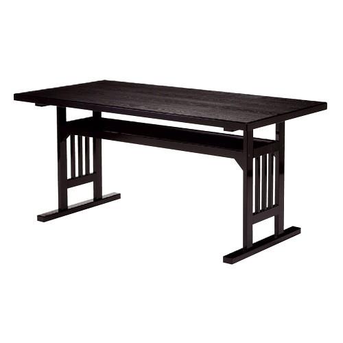 テーブル 格子脚型テーブル メラミン黒木目 [150 x 75 x H70cm] 木製品 (7-763-1) 【料亭 旅館 和食器 飲食店 業務用】