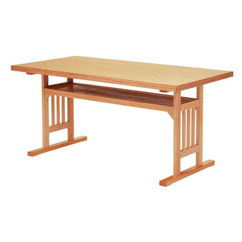 テーブル 格子脚型テーブル メラミン白木 [150 x 75 x H70cm] 木製品 (7-763-3) 【料亭 旅館 和食器 飲食店 業務用】