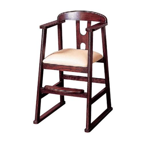 椅子 子供椅子ブラウン [43 x 51 x H75 x SH45cm] 木製品 (7-772-14) 【料亭 旅館 和食器 飲食店 業務用】