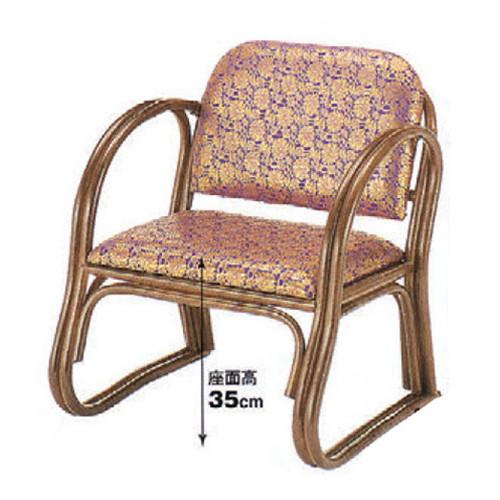 椅子 籐高座椅子金らん [55 x 54 x H65 x SH35cm] 藤 (7-773-18) 【料亭 旅館 和食器 飲食店 業務用】
