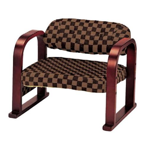椅子 3段階椅子Cブラウン [56 x 46 x H46 x SH22cm ・26cm ・30cm] 木製品 (7-772-2) 【料亭 旅館 和食器 飲食店 業務用】