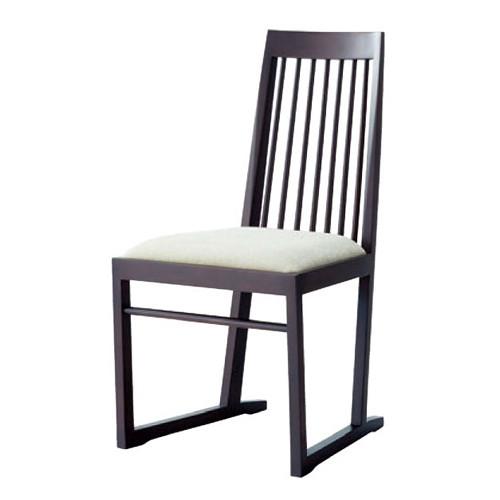 椅子 椅子 格子 BR [46 x 53 x H88 x SH45cm] 木製品 (7-775-19) 【料亭 旅館 和食器 飲食店 業務用】