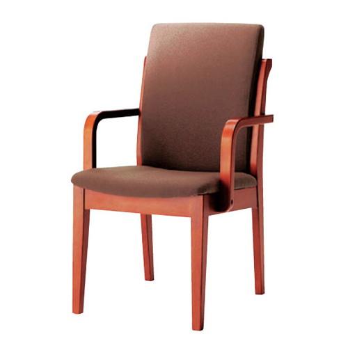 椅子 椅子肘付 L・AC [50 x 59 x H86 x SH43cm] 木製品 (7-776-8) 【料亭 旅館 和食器 飲食店 業務用】