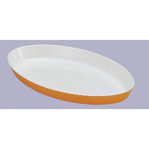 目皿・バット ロイヤルバットT-06ホワイトイエロー [36.5 x 21.5 x 4.3cm] 熱硬化性樹脂(メラミンまたはユリア樹脂) (7-134-11) 【料亭 旅館 和食器 飲食店 業務用】