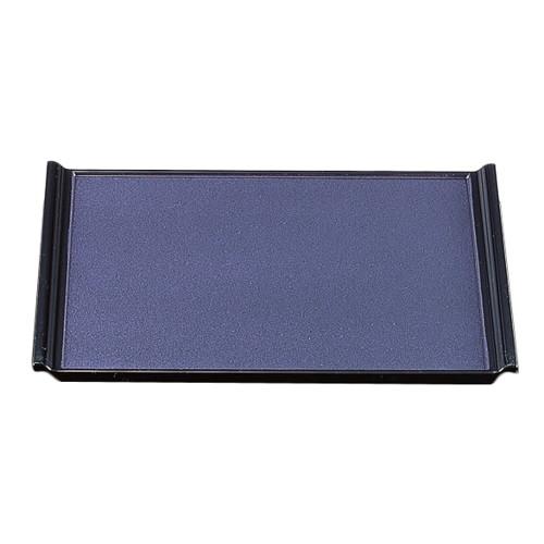 お盆 宴盆紫真珠塗渕黒2尺1寸 ノンスリップ加工 [63.3 x 49 x 2.5cm] ABS樹脂 (7-23-4) 【料亭 旅館 和食器 飲食店 業務用】