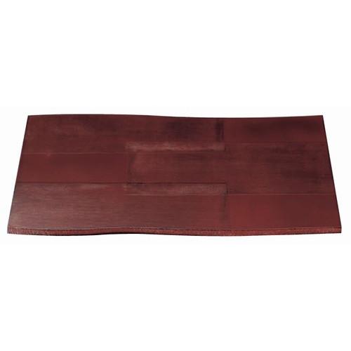 木製盆 尺4寸流木敷膳布張根来 [42.5 x 29.7 x 0.8cm] 木製品 (7-138-7) 【料亭 旅館 和食器 飲食店 業務用】