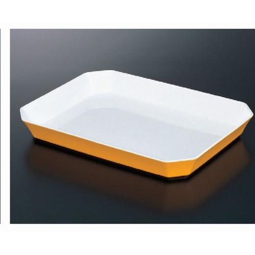 ロイヤルバットT-10ホワイトイエロー [34 x 25 x 4.3cm] (7-136-6) トレー 【料亭 旅館 和食器 飲食店 業務用】 (メラミンまたはユリア樹脂) 熱硬化性樹脂