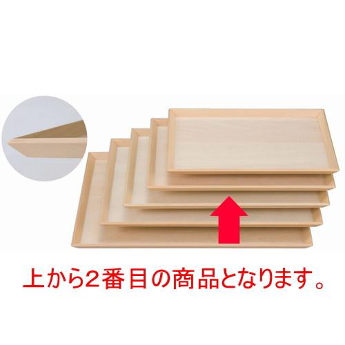 木製盆 富士型白木盆尺2寸 [36 x 26.5 x 1.7cm] 木製品 (7-139-7) 【料亭 旅館 和食器 飲食店 業務用】