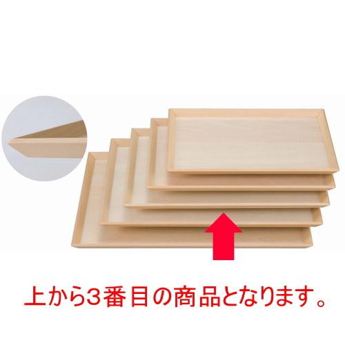木製盆 富士型白木盆尺3寸 [39 x 28.6 x 1.7cm] 木製品 (7-139-7) 【料亭 旅館 和食器 飲食店 業務用】