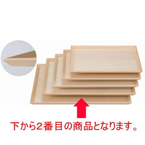 木製盆 富士型白木盆尺4寸 [42 x 30.8 x 1.7cm] 木製品 (7-139-7) 【料亭 旅館 和食器 飲食店 業務用】