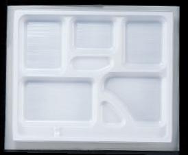 幕の内弁当 W-6 尺2寸長手P.S白仕切 1梱 800枚入り P.S (7-444-14) 【料亭 旅館 和食器 飲食店 業務用】