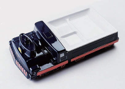 幕の内弁当 D-51汽車ランチ皿ブラック [30 x 15 x 8.3cm] ABS樹脂 (7-436-8) 【料亭 旅館 和食器 飲食店 業務用】